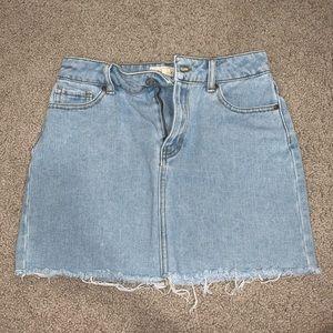 Pacsun light wash denim skirt